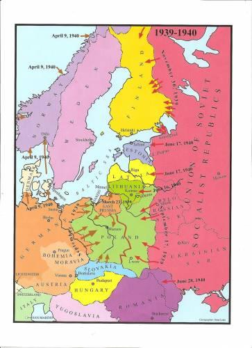 Восточная Европа 1939-1940 году